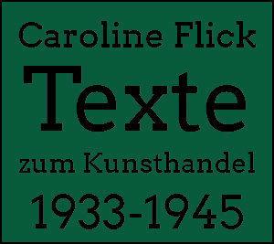 Logo Texte zum Kunsthandel 1933-1945